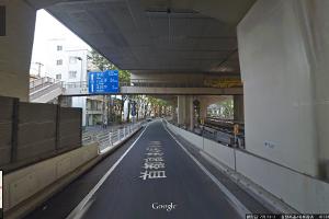 新宿方面からの道のり1