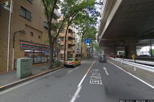 新宿方面からの道のり2